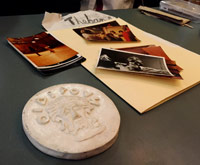 A handmade memento and photos from 'Oedipus.'