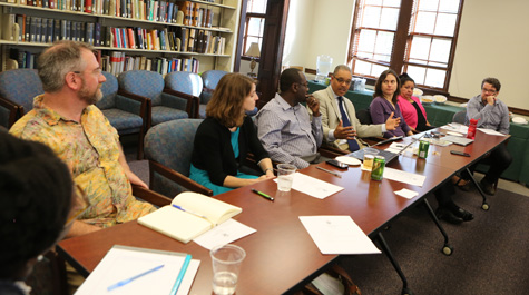 A meeting of the Task Force on Race and Race Relations (Photo by Stephen Salpukas)