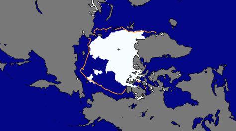 Shrinking Arctic Sea ice: