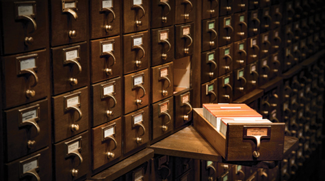 Evolution of the card catalog: