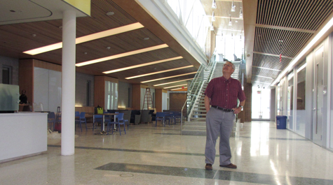 Department Chair Eric Bradley surveying the new wing of the ISC before we moved in