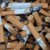 Student works to curb cigarette-butt litter on campus