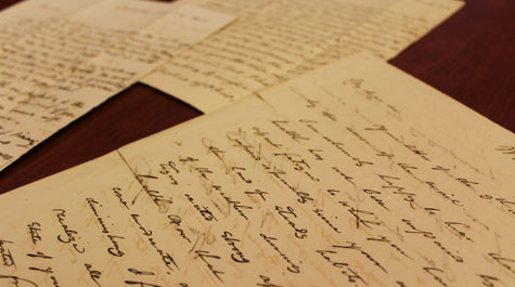the newly acquired letters have never before been published or publicly viewed