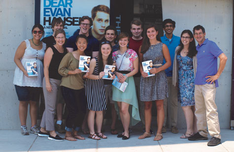 Clements with 1693 Scholars who saw ''Dear Evan Hansen'' during its Washington, D.C., run.