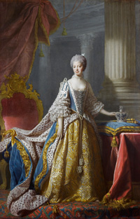 Queen Charlotte. (Allan Ramsay, c.1760-61. Courtesy Royal Collection Trust)