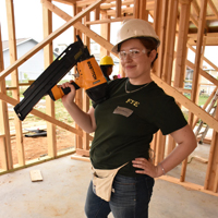 Lorraine Pettit on a job site in Laredo, Texas