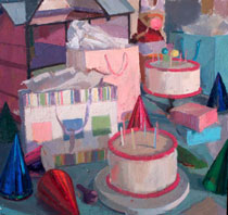 ''Cakes and Party Hats,'' 2015, Nicole Santiago