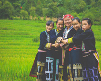 Some of the students that Phan taught in Vietnam (courtesy photo)