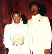 The Winstons' wedding photo