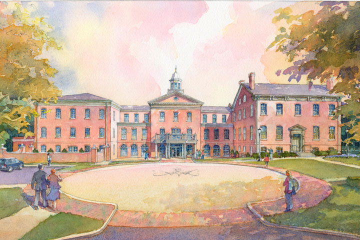 alumni house rendering