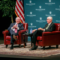Chancellor Robert M. Gates and W&M President Taylor Reveley