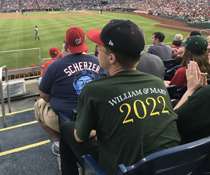 A member of the Class of 2022 attends William & Mary Night at Nationals Stadium in Washington, D.C., Aug. 7.