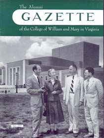 The cover of the Alumni Gazette shows the newly completed Phi Beta Kappa Memorial Hall (Image courtesy of University Archives)