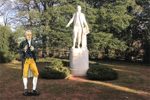 A scene from the AR tour shows James Monroe, who attended William & Mary before joining the Continental Army in 1776. (Courtesy James Monroe's Highland)
