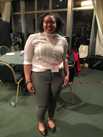 Alijah Webb '20 was one of the student interns with CNN. (Courtesy photo)