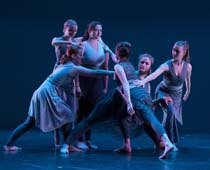 Members of the Orchesis Mordern Dance Company perform in 2017. (Department of Theatre, Speech and Dance photo)