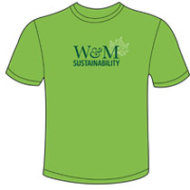 Sustainability T-shirt design (Photo courtesy of Office of Sustainability)