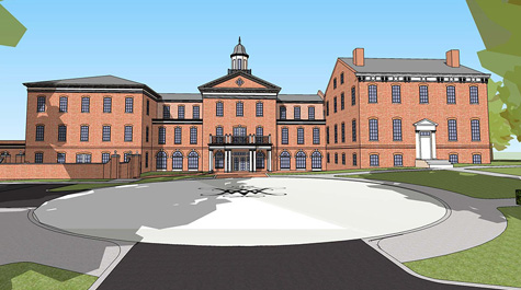 Rendering of the new Alumni House