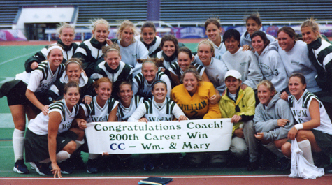 Celebrating her 200th coaching victory