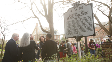 The marker is located at 107 North Boundary St. in Williamsburg. (Photo by Stephen Salpukas)