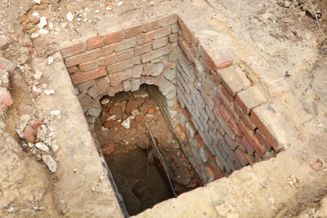 The vaulted, brick drain (Photo by Stephen Salpukas)