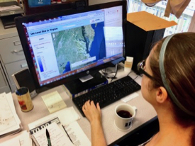 Mitchell ponders sea-level rise in Virginia. (VIMS photo)