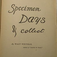 The cover of Whitman's Specimen Days