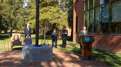 Vice Dean Patty Roberts '92 and Dean Davison Douglas were among the speakers at the November 11 dedication