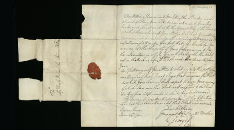 A letter from King George III to his son Prince William