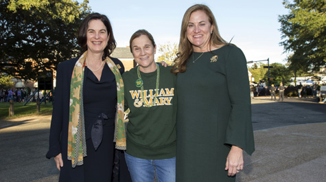 Huge with Jill Ellis, head coach of U.S. Women's National Soccer, and President Katherine Rowe