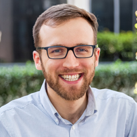 Headshot of Kurtis Bartlett was awarded the 2018 Jefferson Science Associates Thesis Prize, recognizing his Ph.D. dissertation in the William & Mary physics department.