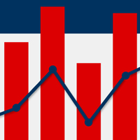 Red white and blue graph