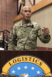 Spencer teaching in his role as a U.S. Army Reserve officer (Courtesy photo)