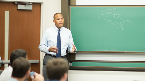 Ben Spencer teaching a class at the University of Virginia School of Law (UVA photo)