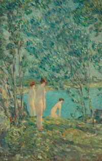 The Bathers (1903) by Childe Hassam. On Loan from The Owens Foundation