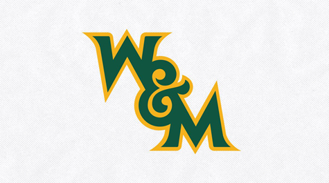 A green W&M logo outlined in yellow on a gray background