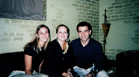 Carrie Dolan and friends in a dorm at Tulane before Katrina
