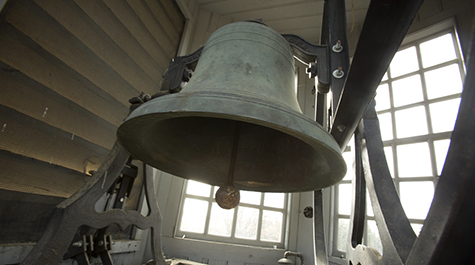 A close up view of the Wren bell