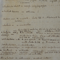 Page of original Choctaw dictionary