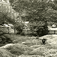 The 1957 archaeological excavation at the site of First Baptist Church