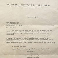 Copy of Feynman's letter