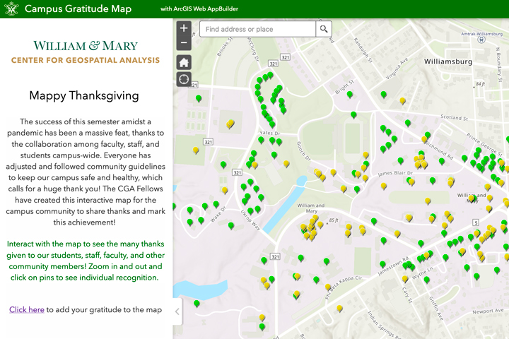GIS Day competition & 'Mappy Thanksgiving' from the Center for Geospatial Analysis