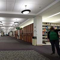 interior of swem library