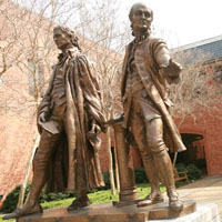 The statue in front of the law school