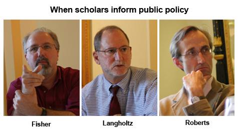 Scholars informing policy
