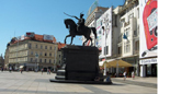 The main town square in Zagreb, where Dina Abdel-Fattah spent part of the summer doing Dintersmith research.