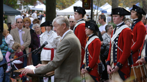 Reveley at Great Street Ceremony