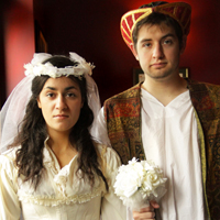 Francesca Chilcote (left) and CJ Bergin (right) star in Shrewing of the Tamed