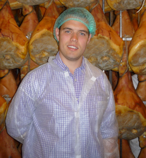 St. John at the San Nicola Prosciutto factory (Parma, Italy)