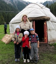 Warren with Kyrgystani children